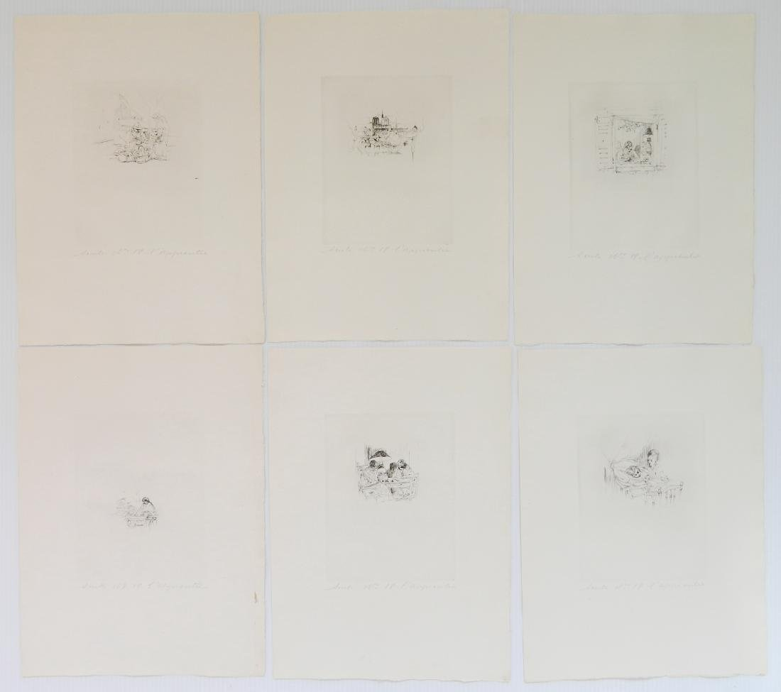 Auguste Brouet etchings - 5