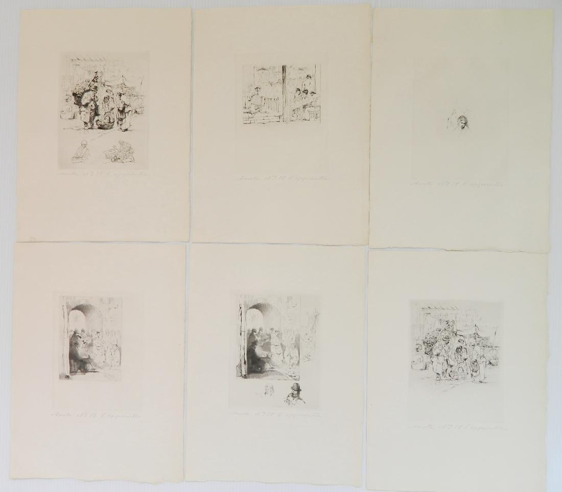 Auguste Brouet etchings - 6