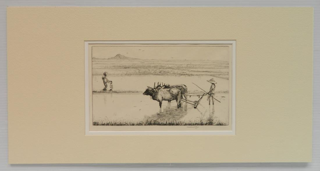 Charles W. Cain etching - 2