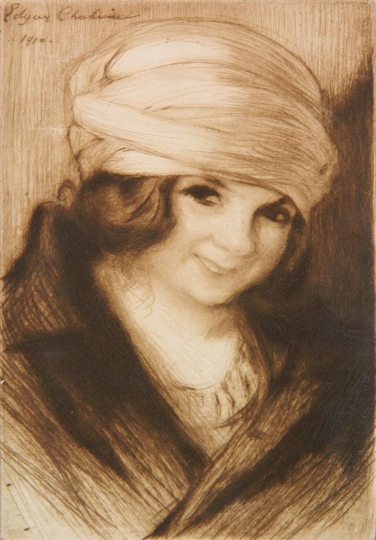 Edgar Chahine etching