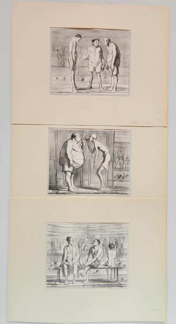 Honore Daumier 3 lithographs