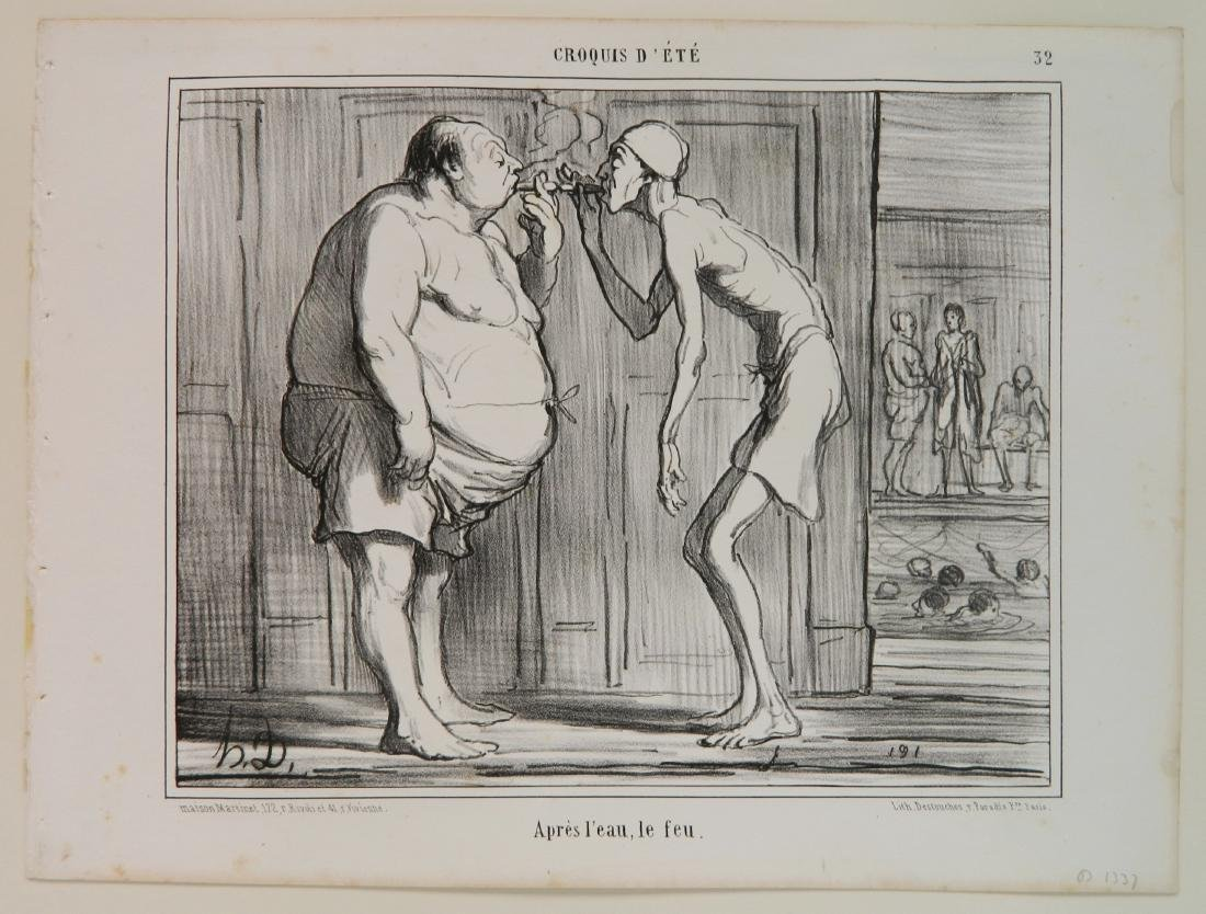 Honore Daumier 3 lithographs - 6