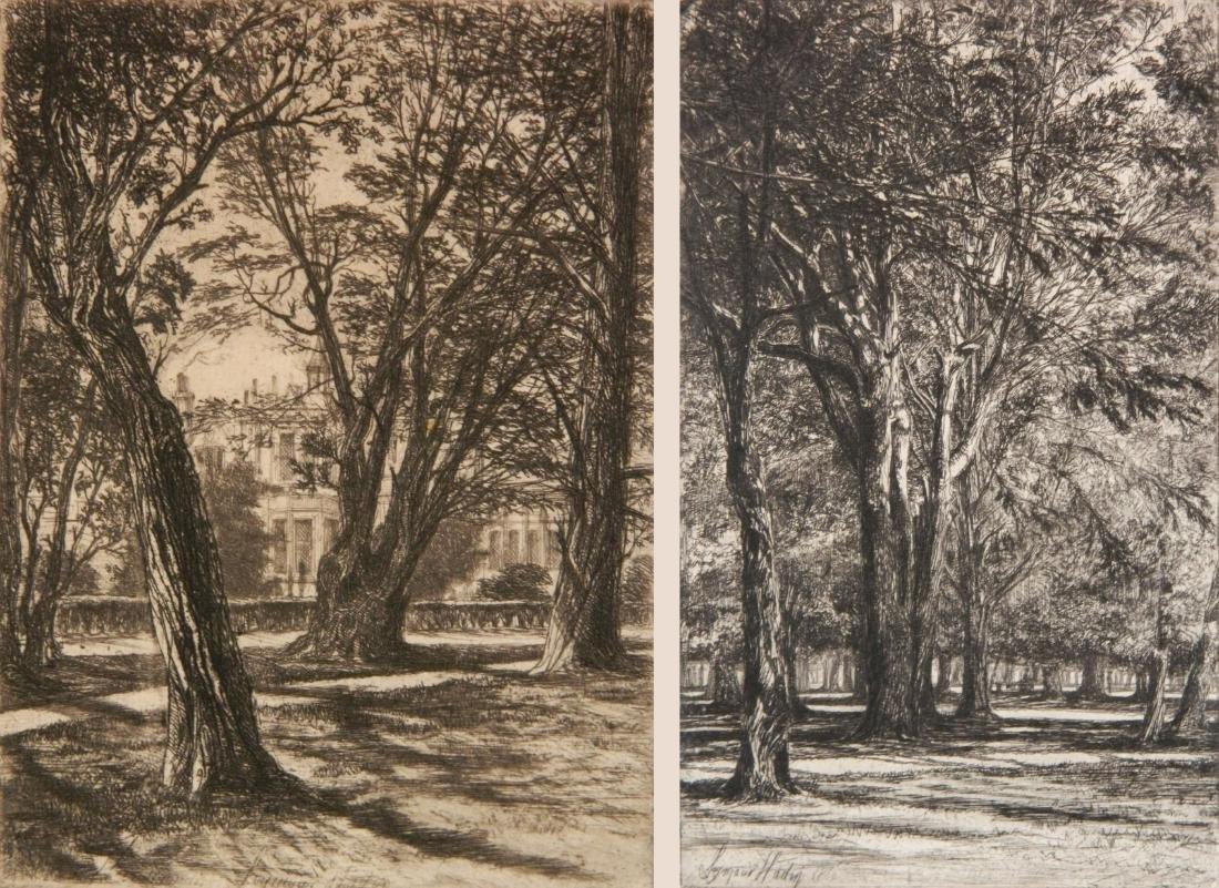 Francis Seymour Haden 2 etchings