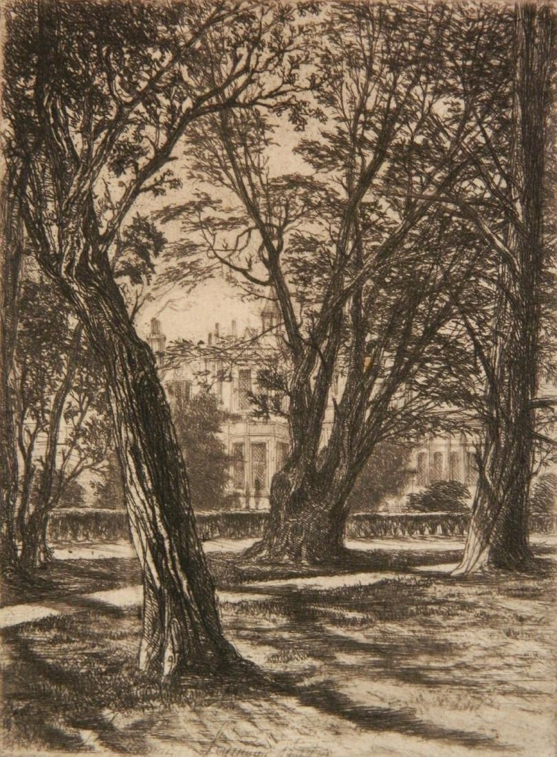 Francis Seymour Haden 2 etchings - 2