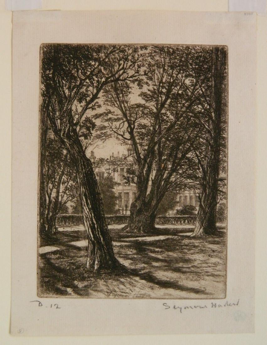 Francis Seymour Haden 2 etchings - 3