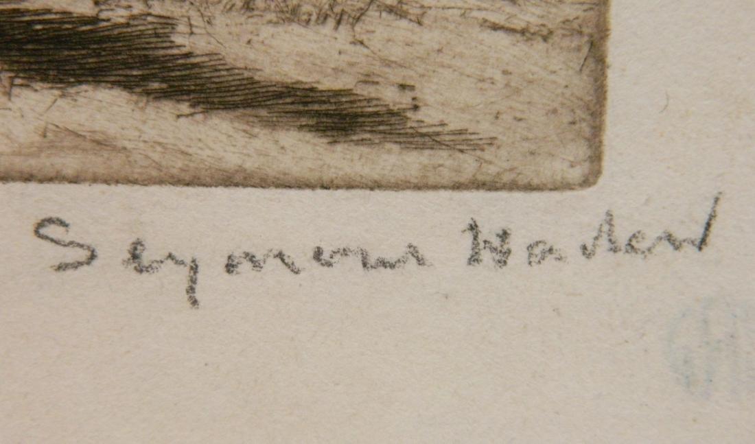 Francis Seymour Haden 2 etchings - 4