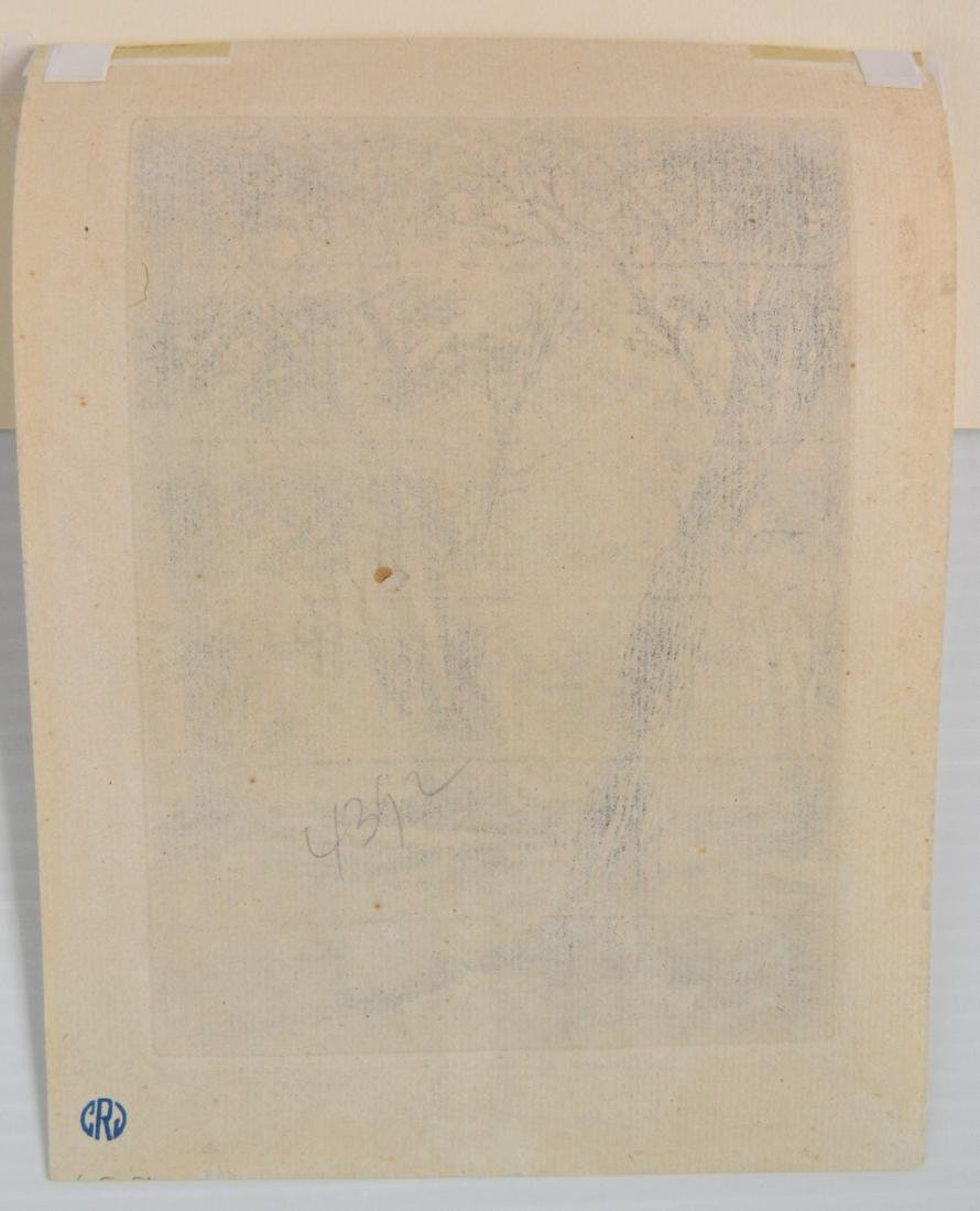 Francis Seymour Haden 2 etchings - 5