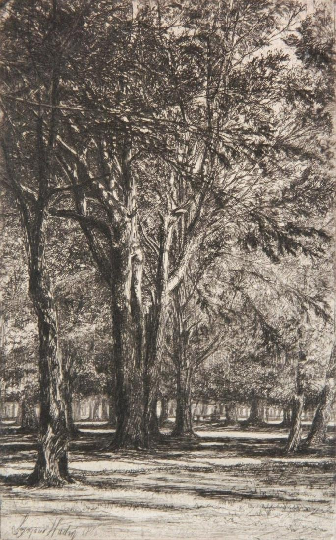 Francis Seymour Haden 2 etchings - 6