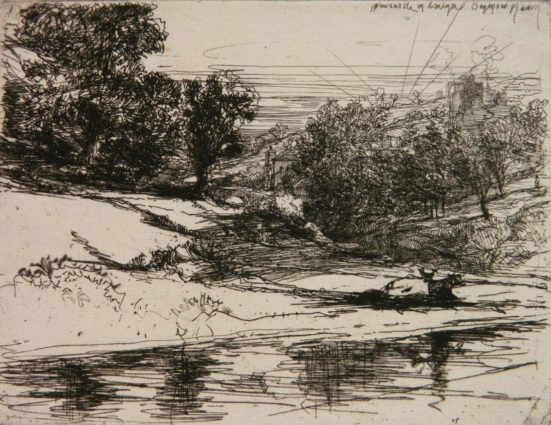 Francis Seymour Haden etching and drypoint