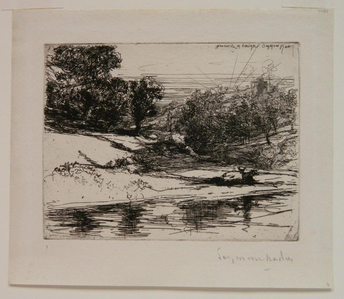 Francis Seymour Haden etching and drypoint - 2