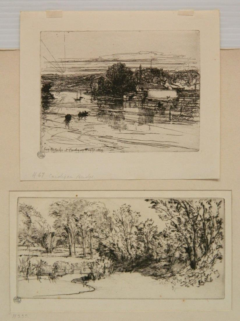 Francis Seymour Haden 2 etchings