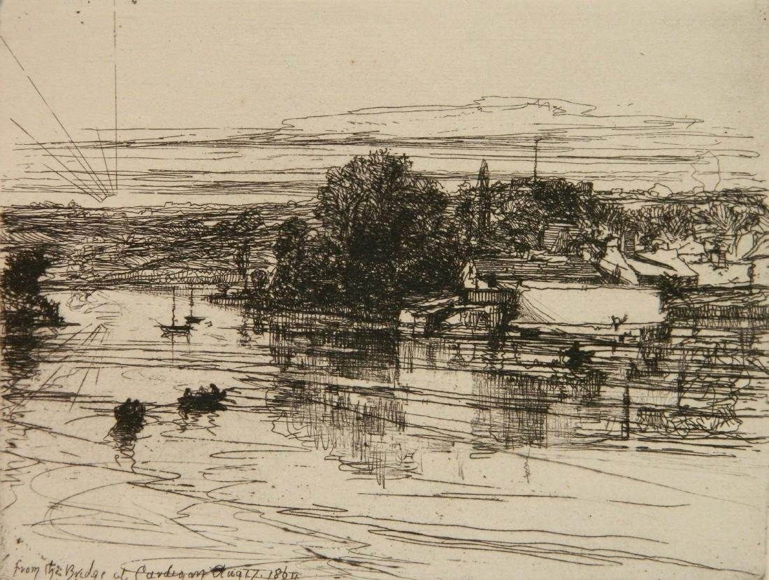 Francis Seymour Haden 2 etchings - 2