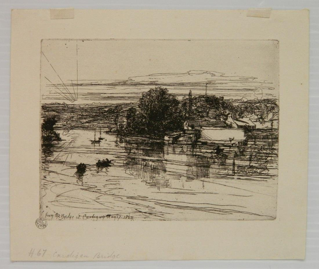 Francis Seymour Haden 2 etchings - 3