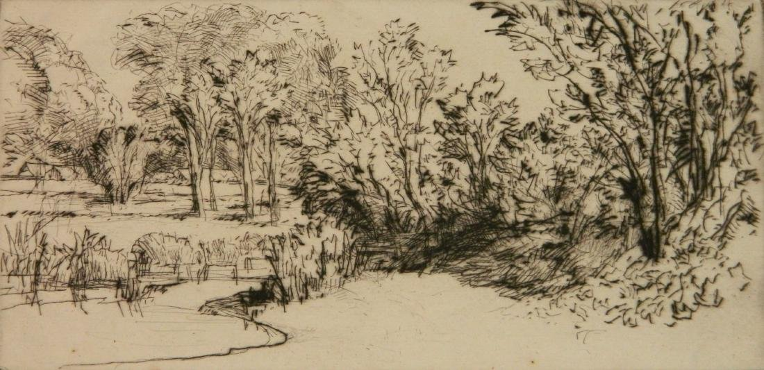 Francis Seymour Haden 2 etchings - 5