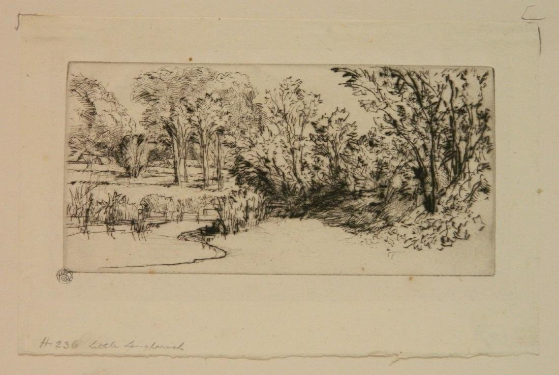 Francis Seymour Haden 2 etchings - 6