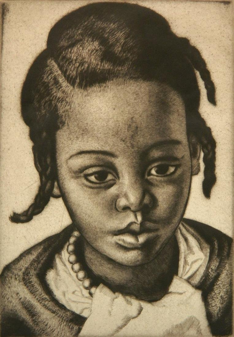 Laura Knight etching and drypoint