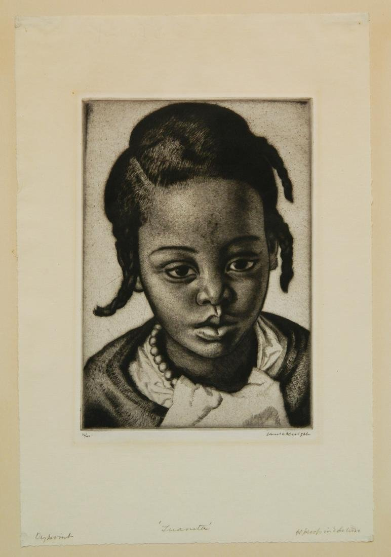 Laura Knight etching and drypoint - 2