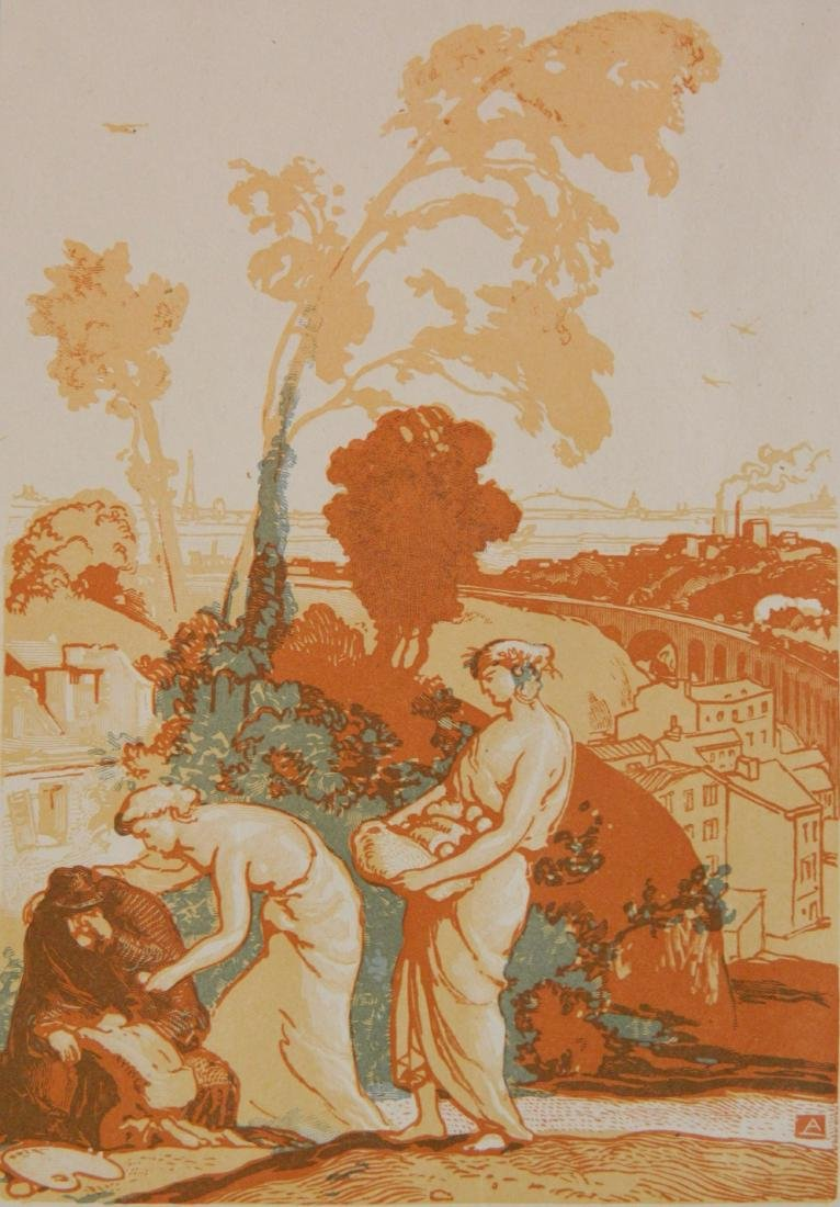 Auguste Lepere wood engraving