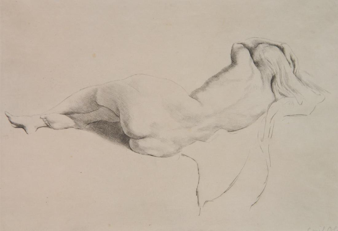 Emil Orlik etching