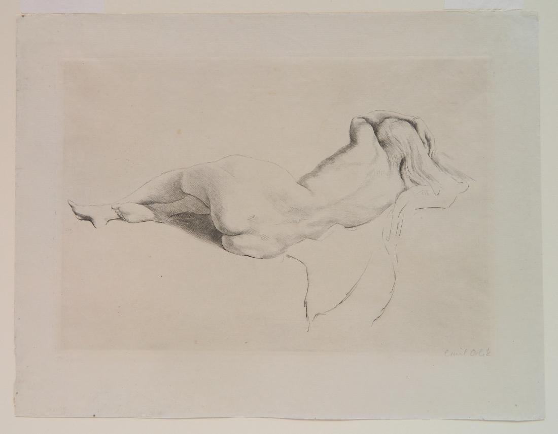 Emil Orlik etching - 2