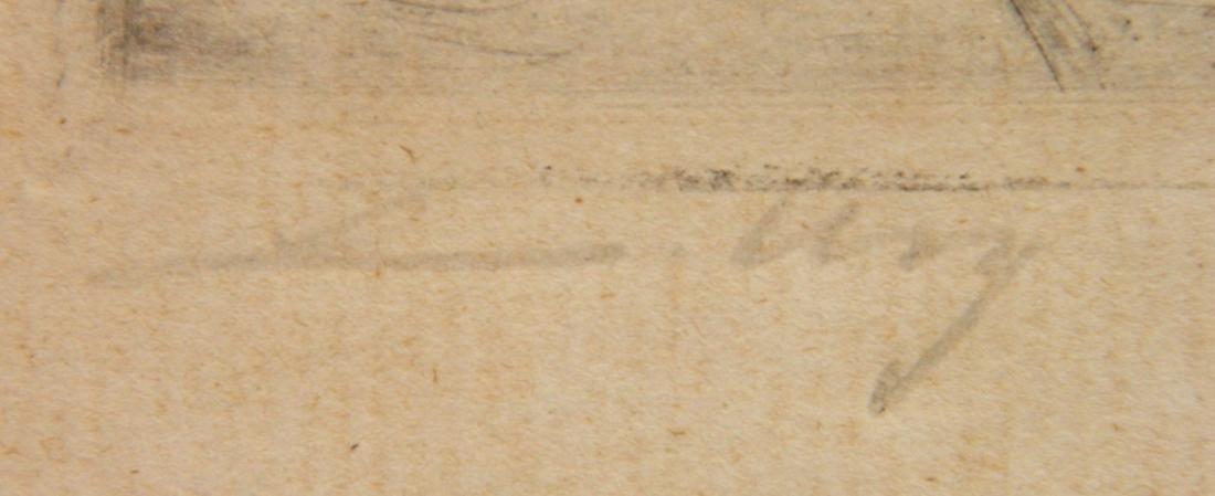 Lesser Ury etching - 3