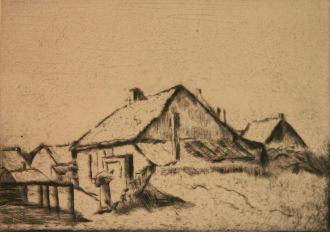 Lesser Ury etching