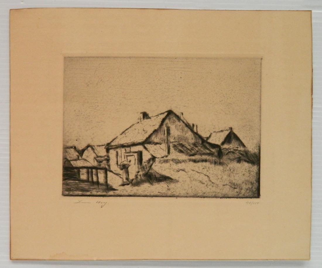 Lesser Ury etching - 2