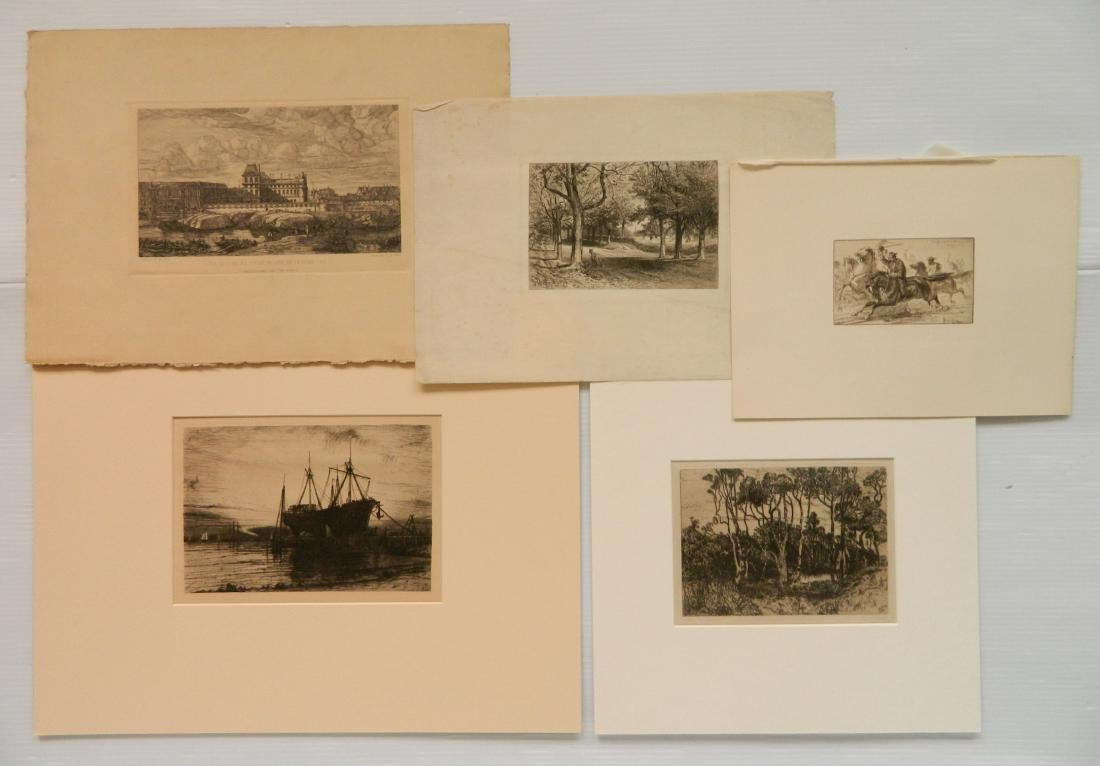 4 American and 1 French etchings