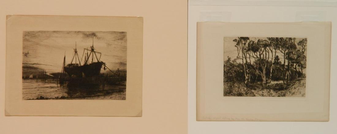 4 American and 1 French etchings - 3