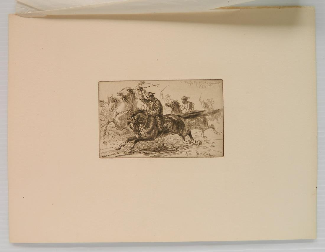 4 American and 1 French etchings - 4