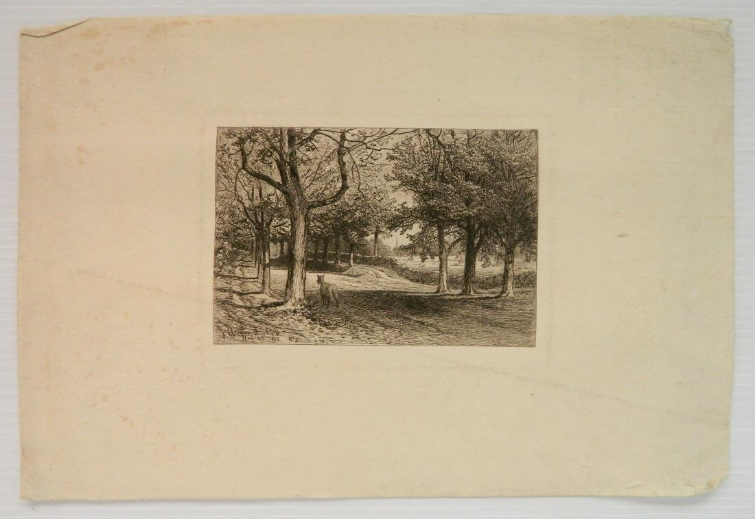 4 American and 1 French etchings - 5
