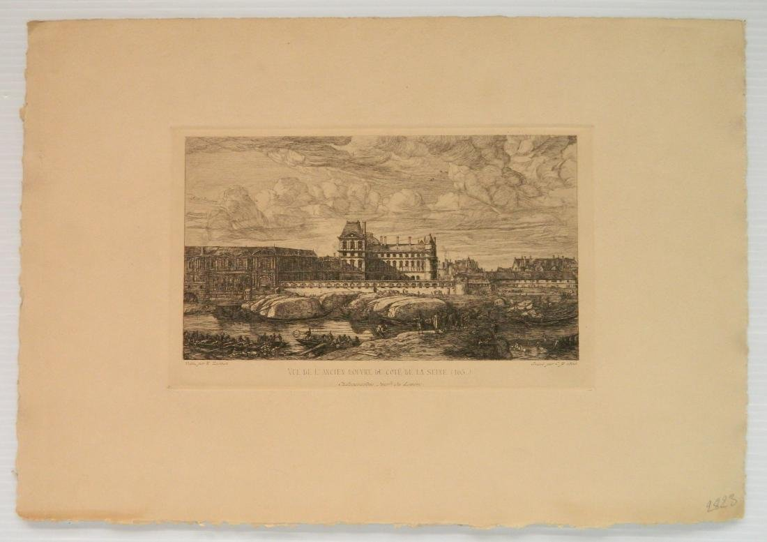 4 American and 1 French etchings - 6