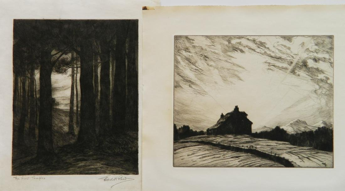 2 American etchings