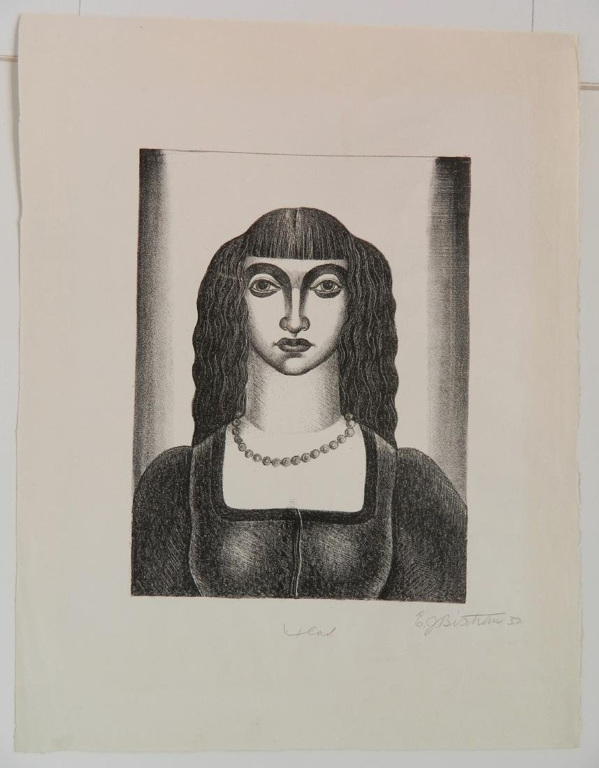 Emil Bistram lithograph - 2