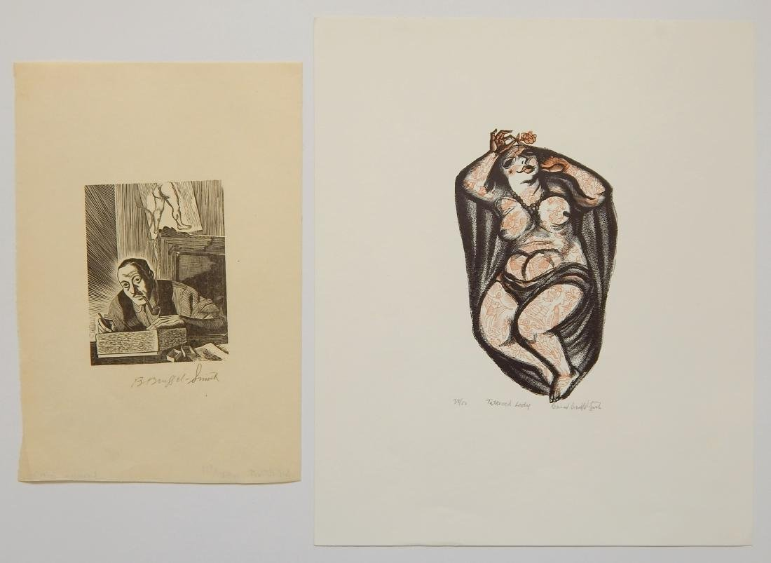 Bernard Brussel-Smith 2 wood engravings