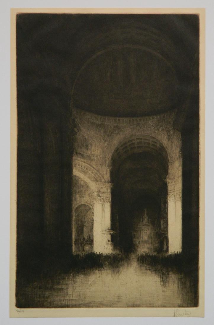 Samuel Chamberlain etching - 2