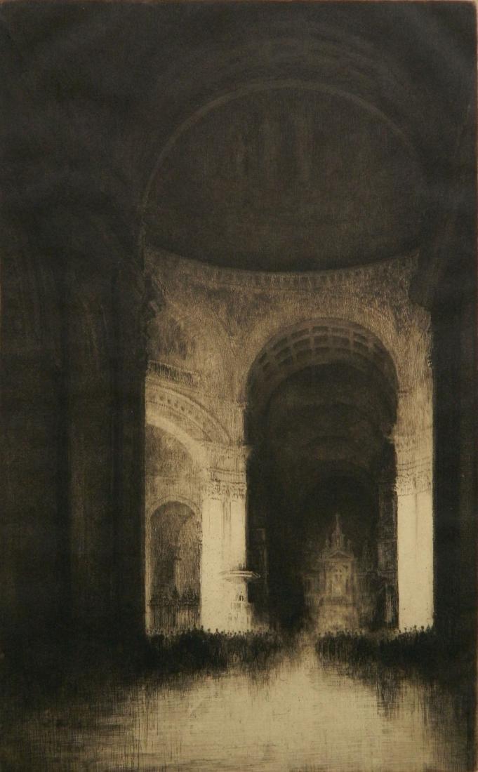 Samuel Chamberlain etching - 3