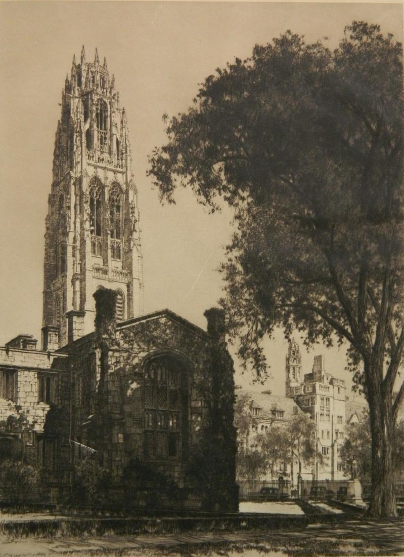 Samuel Chamberlain etching - 6