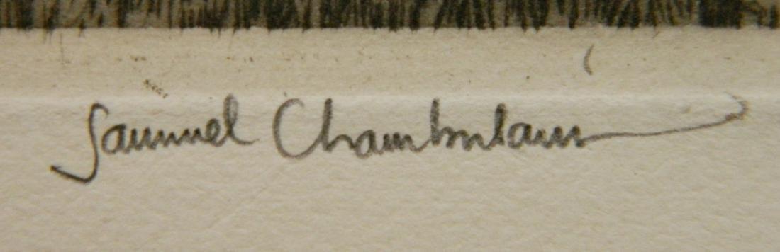 Samuel Chamberlain etching - 8
