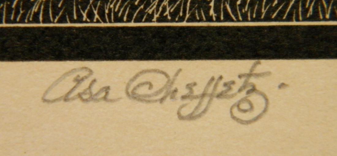 Asa Cheffetz 2 wood engravings - 5