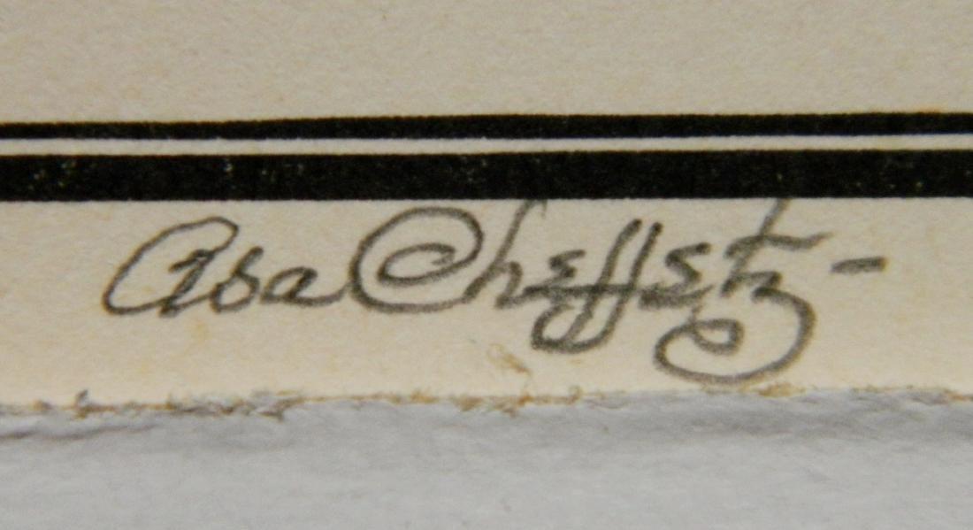 Asa Cheffetz 2 wood engravings - 7