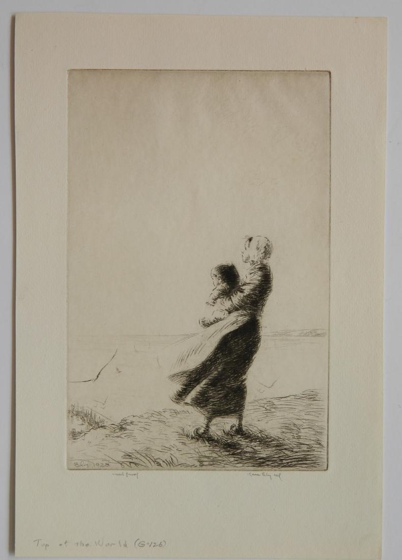 Kerr Eby 3 etchings - 2