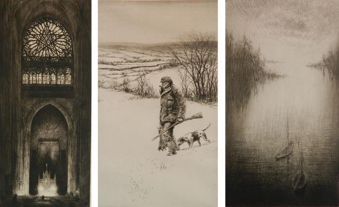 Kerr Eby 3 etchings