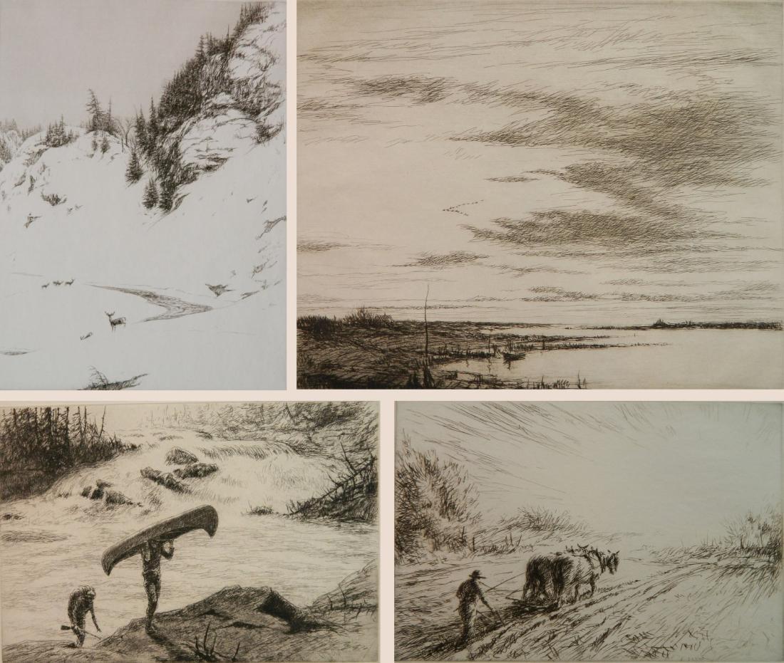 Kerr Eby 4 etchings