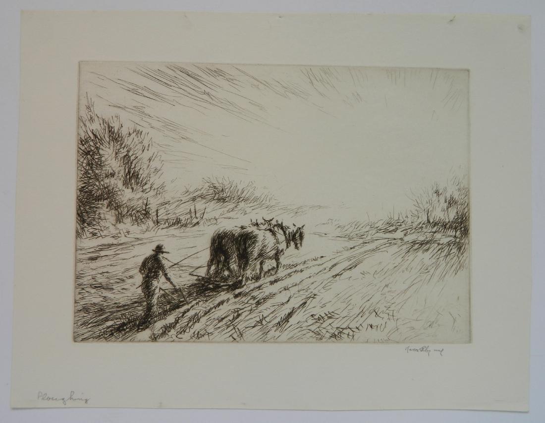 Kerr Eby 4 etchings - 2
