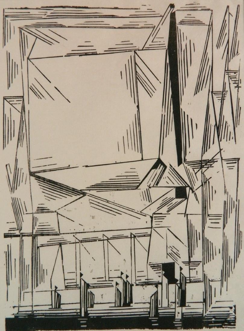 Lyonel Feininger woodcut