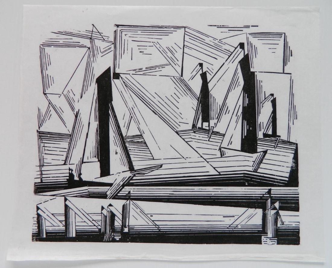 Lyonel Feininger woodcut - 2