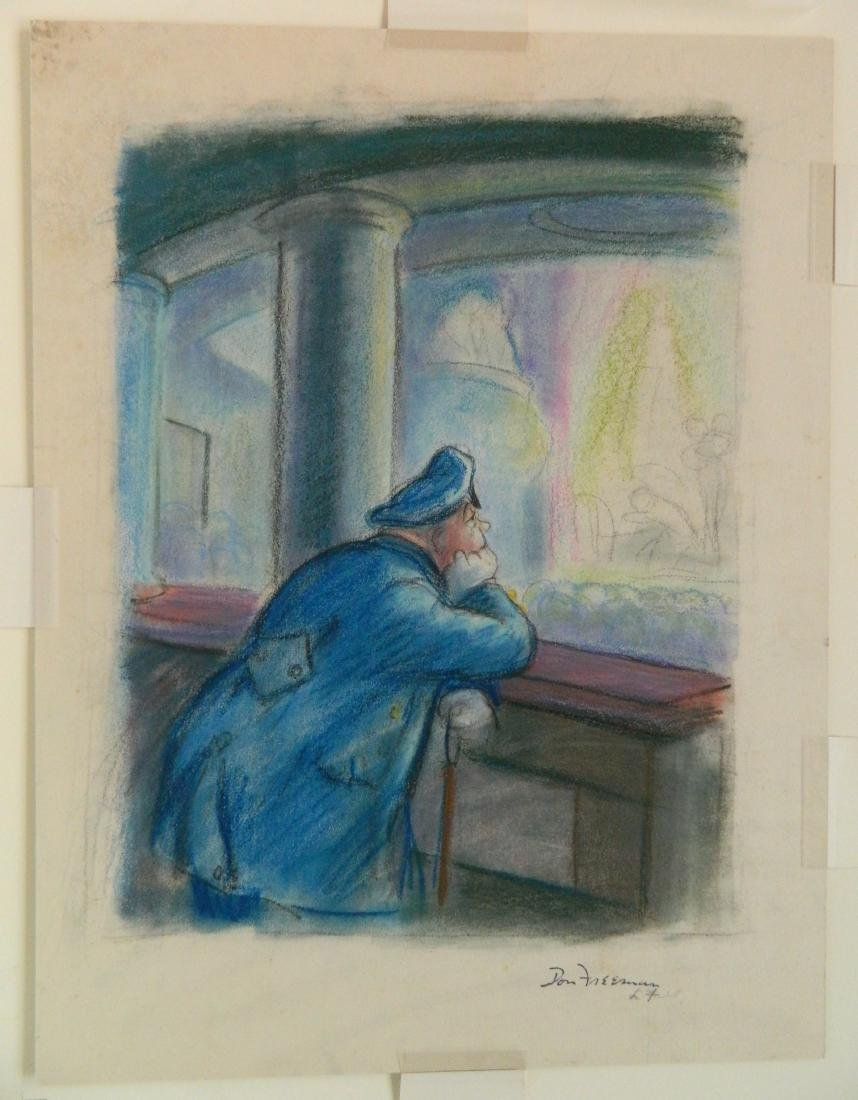 Don Freeman pastel and litho crayon - 2