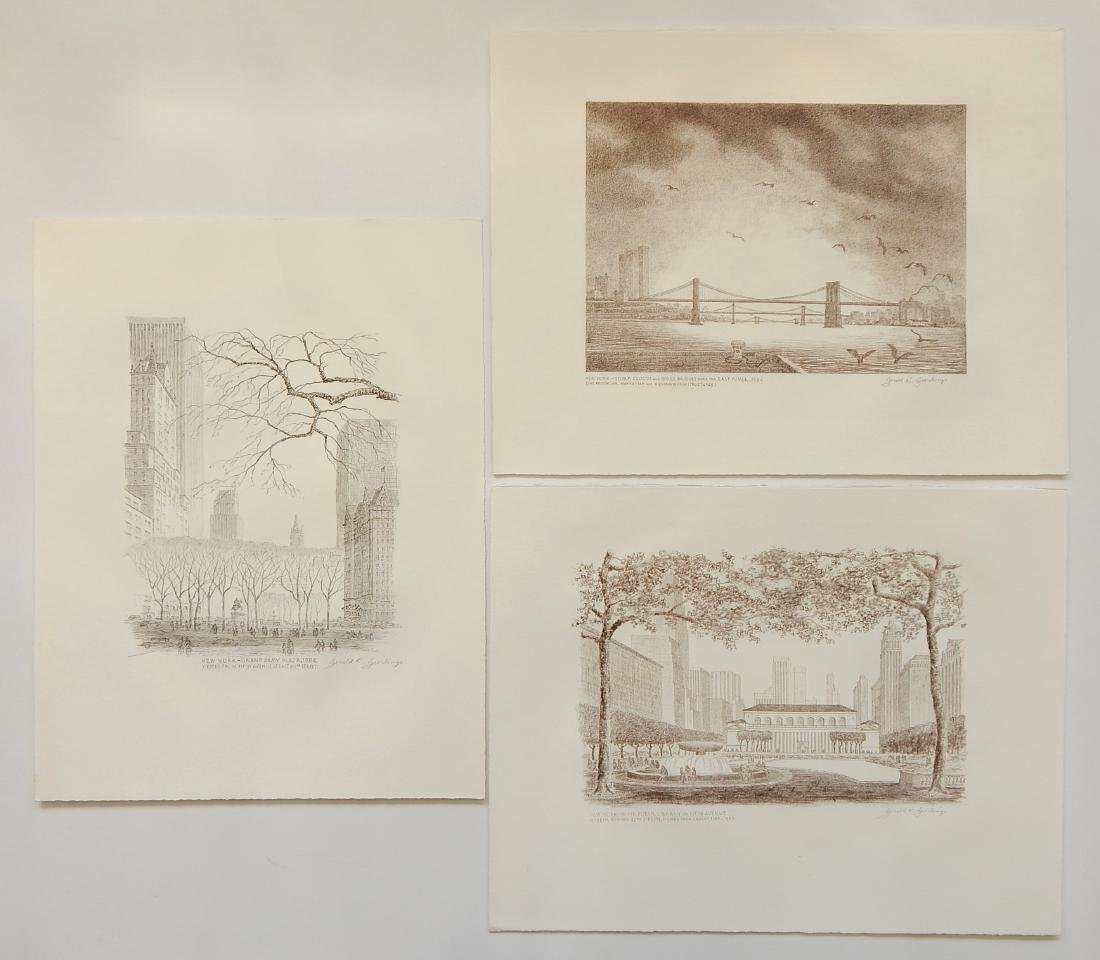 Gerald Geerlings 3 lithographs
