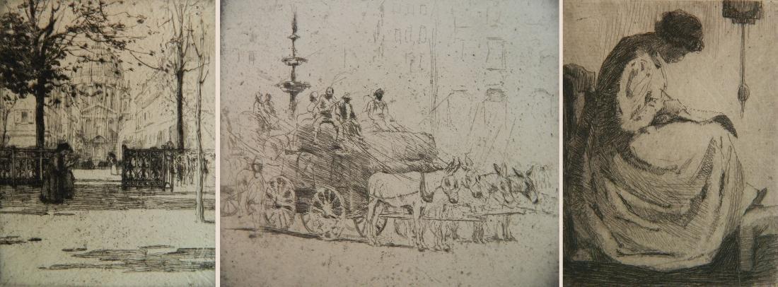 Ann Goldthwaite 3 etchings